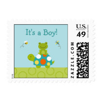 Pond Pals Frog Turtle Personalized Postage Stamps