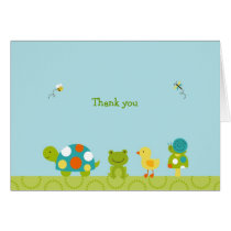 Pond Pals Frog Turtle Thank You Note Cards