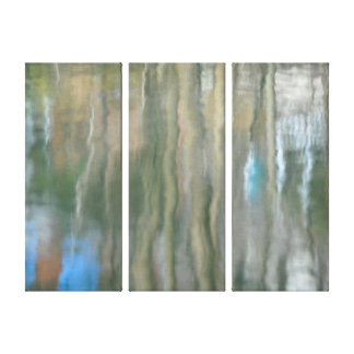 Pond Reflections abstract Stretched Canvas Print