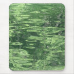 Pond Reflections in Green Mouse Pad