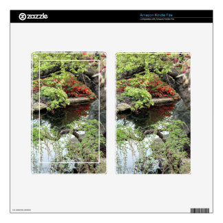 Pond Reflections Kindle Fire Decals