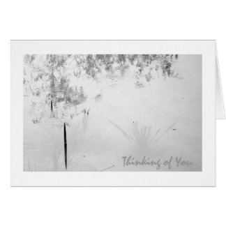Pond Ripples/Nature B&W Thinking of You Greeting Card