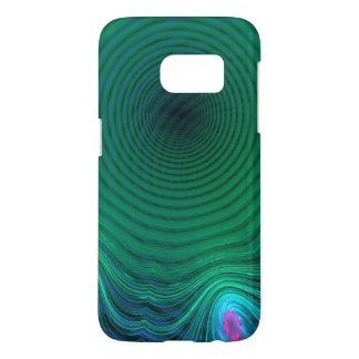 Pond Ripples of Green and Blue Abstract Samsung Galaxy S7 Case