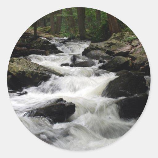 Pond Run Creek Classic Round Sticker