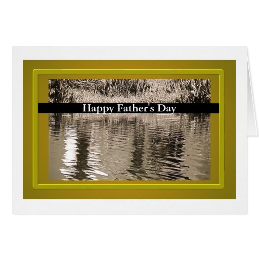 Pond Sepia Photograph Father's Day Card