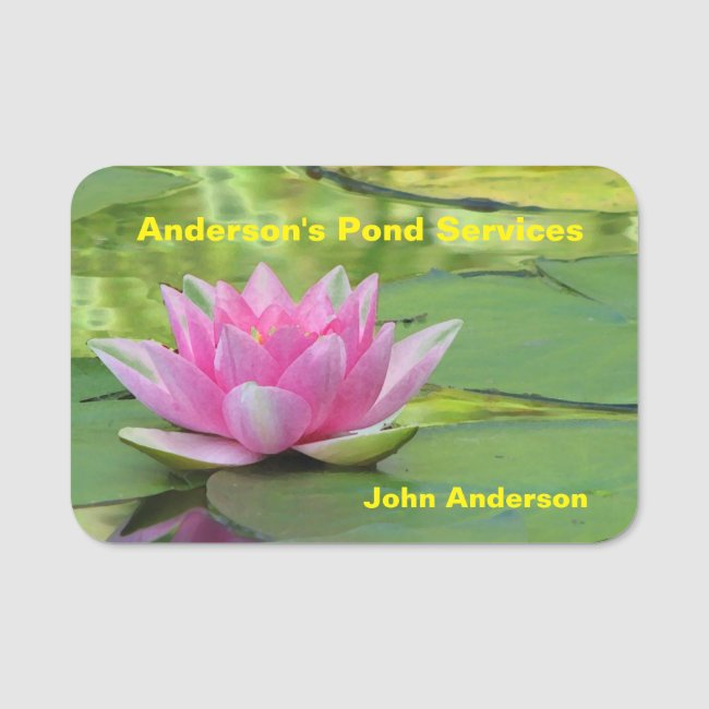 Pond Services Lotus Water Lily Name Tag