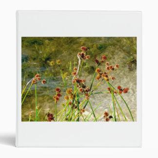 Pond shore plants, spiked puffs on stems photo vinyl binder
