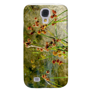 Pond shore plants, spiked puffs on stems photo samsung galaxy s4 case