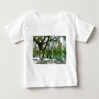 Pond through the Weeping Willow Tree Baby T-Shirt