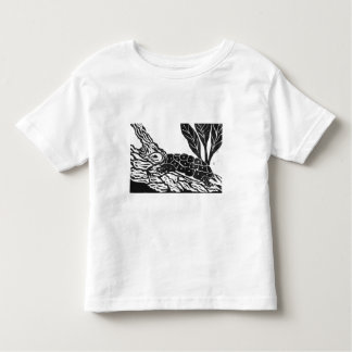 Pond Turtle [black and white block print] Toddler T-shirt