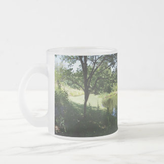 Pond View Frosted Glass Coffee Mug