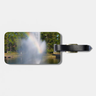 Pond water Fountain with rainbow Bag Tag