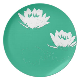 Pond Water Garden Waterlily Flower Floral Lilypads Dinner Plate