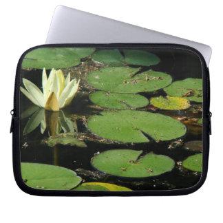 Pond Water Garden Waterlily Flower Floral Lilypads Laptop Sleeve