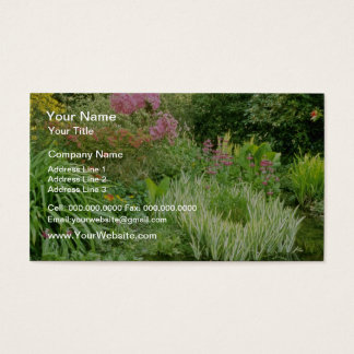 Pond With Bog Plants flowers Business Card