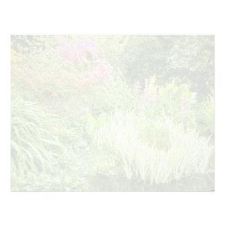 Pond With Bog Plants flowers Letterhead