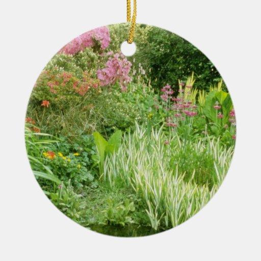 Pond With Bog Plants flowers Christmas Tree Ornament