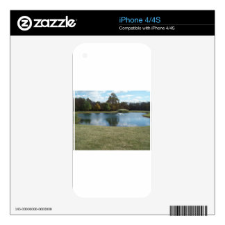 Pond with Fountain Decals For The iPhone 4S