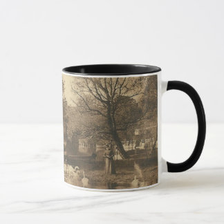 Pond with Swans Sienna Tone Coffee Mug