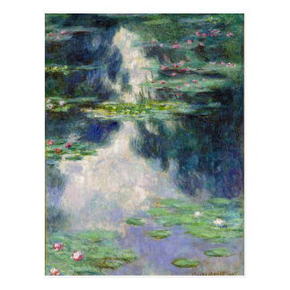 Pond with Water Lilies Monet Fine Art Postcard