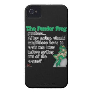 Ponder Frog  Amphibians iPhone 4 Case-Mate Case