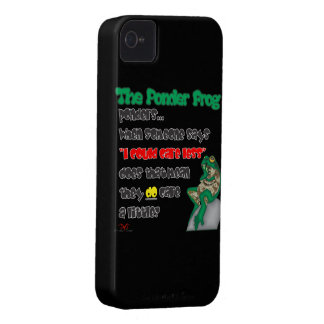 Ponder Frog-Care Less iPhone 4 Case-Mate Case
