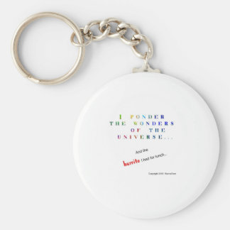 Ponder the Universe Funny Keychain