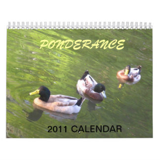 Ponderance ~ DUCK CALENDAR 2011