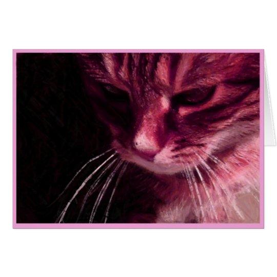 Pondering In Pink Card