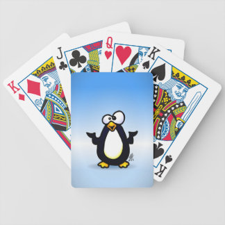 Pondering Penguin Bicycle Playing Cards