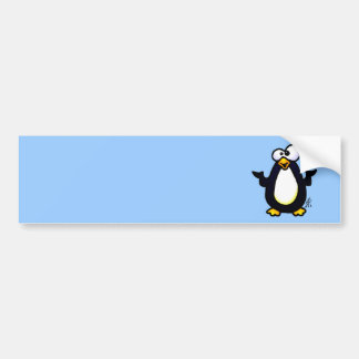 Pondering Penguin Bumper Sticker