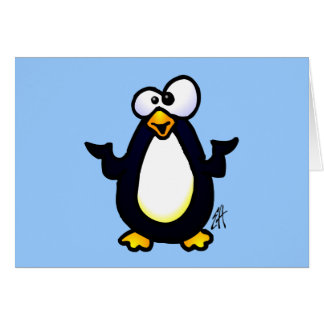 Pondering Penguin Card