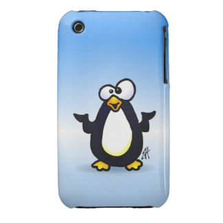 Pondering Penguin iPhone 3 Cover
