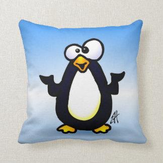 Pondering Penguin Throw Pillow