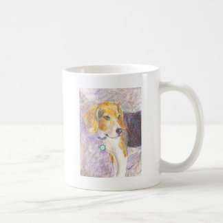 Pondering Pup Classic White Coffee Mug