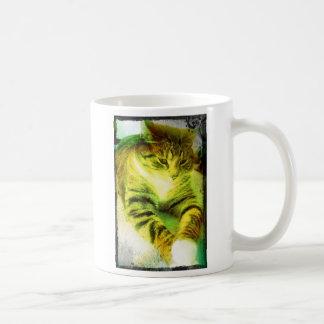 Pondering Tabby Artwork Classic White Coffee Mug