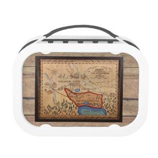 PONDEROSA MAP BOX LUNCH BOX