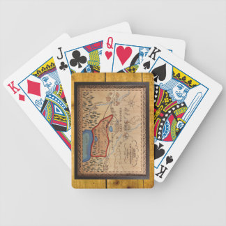PONDEROSA MAP CARDS PLAYING CARDS