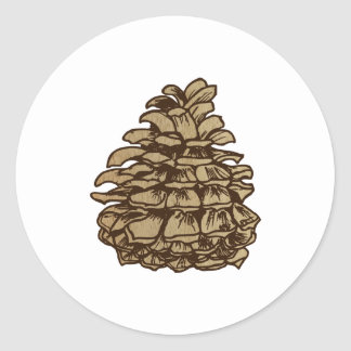Ponderosa Pine Cone Backgrond Classic Round Sticker