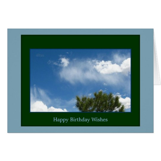 Ponderosa Pine in the Clouds Happy Birthday Card