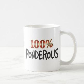 Ponderous 100 Percent Classic White Coffee Mug