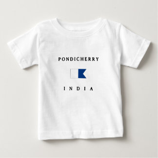 Pondicherry India Alpha Dive Flag Baby T-Shirt