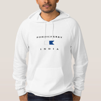 Pondicherry India Alpha Dive Flag Hooded Pullover