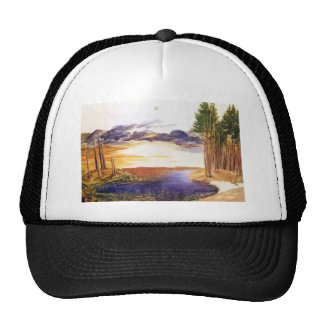 Ponds in the forest mesh hat