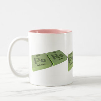 Pone as Po Polonium and Ne Neon Two-Tone Coffee Mug