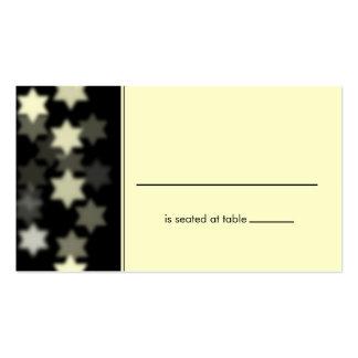 Pone de relieve la estrella de David Placecard Plantilla De Tarjeta De Negocio