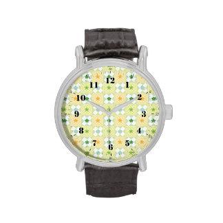Pone verde modelos geométricos de la forma relojes