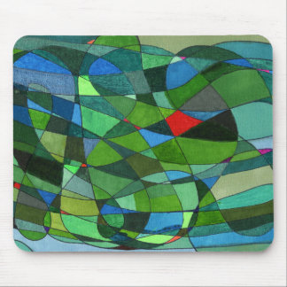 """""""Pone verde sobre todo"""" el diseño abstracto Alfombrillas De Ratones"""