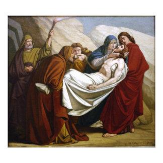 Ponen a Jesús en las estaciones de la tumba de la  Fotografias