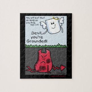 Poner a tierra-Diablo y ángel del carácter del dia Puzzles Con Fotos